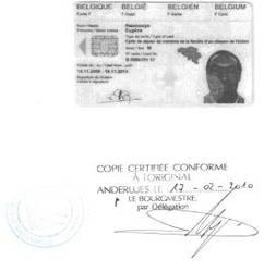carte identité Rwamucyo, Rwamucyo Eugène arrêté en France